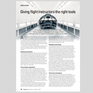 Giving flight instructors the right tool